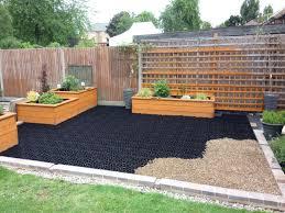 x grid paving in the garden