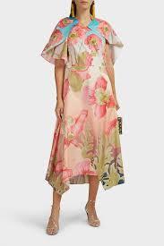 Peter Pilotto Size Chart Asymmetric Floral Cotton Midi Dress