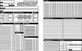 shadowrun 5 character sheet 2007 september pair o dice games