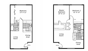 one bedroom apartments floor plans fascinating 4 typical 1 br pertaining to small apartment plan 8