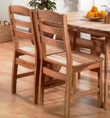 Stuhl 46x92x52cm Mit Holzsitz Massivholz Geölt