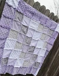 Lavender/Purple Gray & White Rag Quilt/Blanket Perfect baby & Like this item? Adamdwight.com