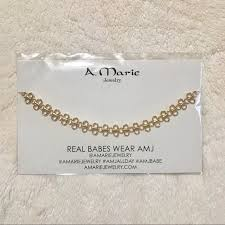 amj mimi choker necklace gold nwt a marie jewelry