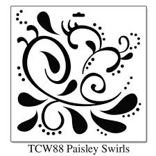 Swirls Templates Paisley Swirls 12x12 Doodling Template From Crafters