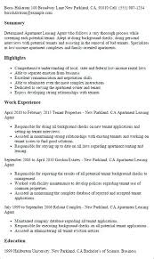 Apartment Leasing Agent Resume Examples Leasing Agent Resume Sample Leasing Manager Resume If You Are