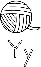 Small Picture The Letter Y Coloring Page for Kids Free Printable Picture