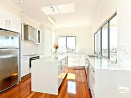 White Galley Kitchen White Galley Kitchen Decoration White Country
