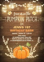 Pumpkin Invitations Template Pumpkin Birthday Invitations Zazzle