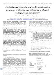 pdf) application of computer and modern automation system for Thermostat Wiring Diagram (pdf) application of computer and modern automation system for protection and optimum use of high voltage power transformer