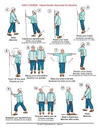 Daily Dozen Visual Exercise Guide For Seniors Hapy Ca
