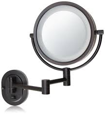 fun wall mounted magnifying mirror 15x home pictures top 52 magic illuminated lighted makeup backlit bathroom