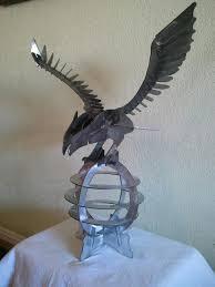 custom made 3d cnc cut metal eagle art statue