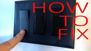 How To Fix A Broken Light Switch How To Fix Broken Light Switch Easy Repair