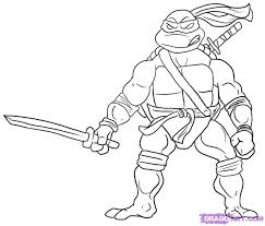 Small Picture Teenage Mutant Ninja Turtle Printable Pgina para colorear
