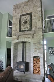 Tiled Hearth Designs For Wood Stoves Stoned Ceiling High Wood Burning Stove With Barn Beam Mantle