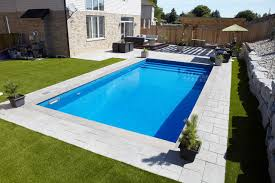 in ground pools rectangle. Delighful Rectangle Rectangle Vinyl Liner Over Step Inground Pool Modernpool Throughout In Ground Pools C