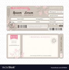 Wedding Invitation Downloads Boarding Pass Wedding Invitation Template