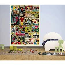 marvel comic book wall mural childrens poster