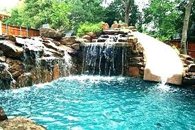 swimming pools with slides and waterfalls.  Pools Pool Rock Waterfall Limited Slide For Pools With Waterfalls  Rocks Swimming In Slides And G