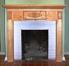 image of diy wood fireplace mantel