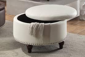 faux leather ottoman. Charmed Treasure Box Design White Faux Leather Ottoman W Storage F6807 3