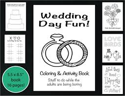 Small Picture Wedding Coloring and Activity Book Reception Game Kids