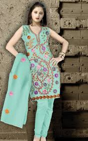 Arkandi Suit Designs Blue Arkandi Cotton Designer Salwar Kameez