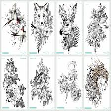 Detail Feedback Questions About Rocooart Black Sketch Tattoo Sticker