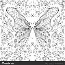 Kleurplaat Bloemen Mooi Vlinder Kleurplaten Uniek Kleurplaat