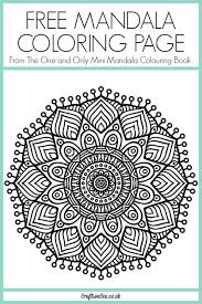 Small Picture Free Mandala Coloring Page Mandala coloring Coloring books and