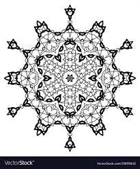 Snowflake Mandala Vintage Decorative Elements Vectoroloring Pages