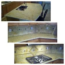 Kashmir Gold Granite Kitchen Beautiful Kashmir Gold Granite And Tile Backsplash Stonehenge