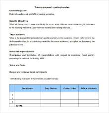 Training Proposal Templates 32 Free Sample Example Format In