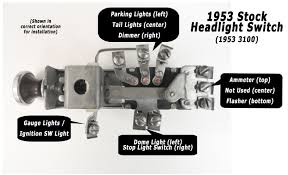 gm headlight switch wiring ad truck wiring made easy step eight the headlight switch and ignition switch