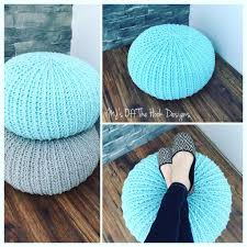 Knitted Pouf Pattern Magnificent Inspiration Design