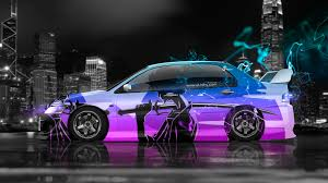 mitsubishi lancer evoluton jdm effects car