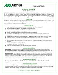 Gallery Of Cna Sample Resume Free Resume Templates Cna Resume
