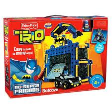 fisher price trio dc super friends batcave review