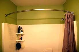 no drill curtain rods better homes and gardens double curved tension