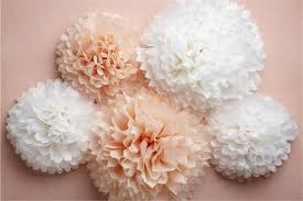 White Paper Flower Garland 24 Colors Available Tissue Paper Pom Poms Ball 8inch 20cm 50pcs Lot