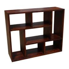 Bookcase Table Cube Bookcase Contemporary Wooden Display Cabinet Shelf