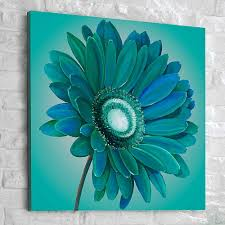 Painting Canvas For Living Room Canvas Painting Ideas For Beginners Graham Brown Teal Gerbera