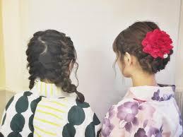 浴衣やヘアアレンジ 編みおろし編み込みアレンジneolive Ora 学芸