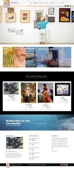 Crocker Web Design Web Design Loft Fine Art Re Design On Behance