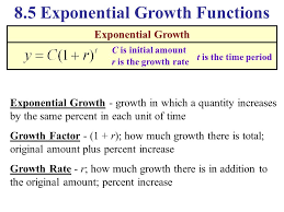 8 5 exponential growth functions