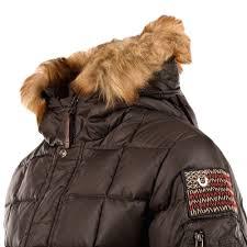 true religion black padded down jacket with fur hood
