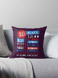 10 years of being awesome amazing 10th birthday gift ideas by memwear