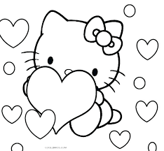 Coloring Pages Online Kitty Coloring Sheets E Hello Pages Color Page