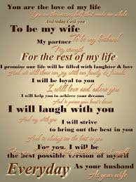 traditional wedding vows i do her