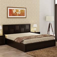 Wooden furniture bed design Price Majestic Engineered Wood Box Storage King Size Bed In Wenge Colour By Hometown Revival Beds Buy Majestic Engineered Wood Box Storage Queen Size Bed In Wenge